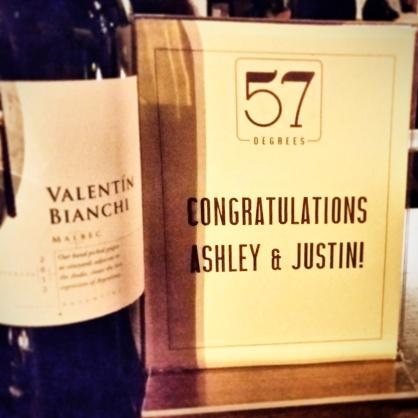 57 Degrees - Congrats Ashley & Justin