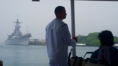 One of the Active Military Men taking us to the USS Arizona Memorial.