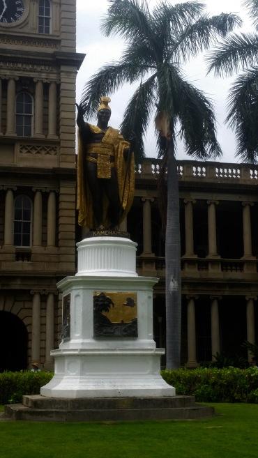 King Kamehameha Statue at Aliʻiolani Hale.