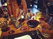 The wine spread.