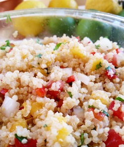 Peach Pico De Gallo Quinoa