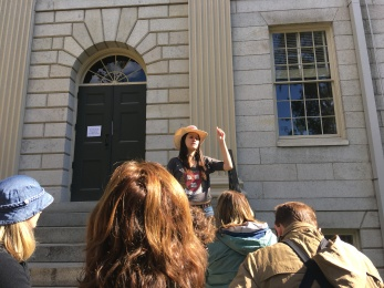 Our tour guide. She was awesome and very animated.